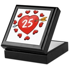 25th Valentine Heart Keepsake Box