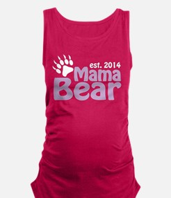 Mama Bear New Mom 2014 Maternity Tank Top