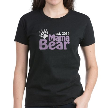 Mama Bear New Mom 2014 Women's Dark T-Shirt