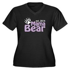 Mama Bear New Mom 2014 Women's Plus Size V-Neck Da