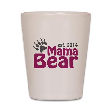 Mama Bear New Mom 2014 Shot Glass