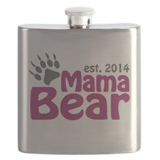 Mama Bear New Mom 2014 Flask