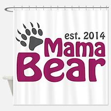 Mama Bear New Mom 2014 Shower Curtain