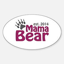 Mama Bear New Mom 2014 Sticker (Oval)