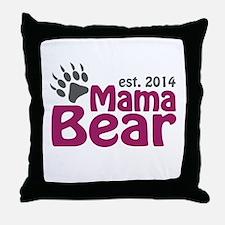 Mama Bear New Mom 2014 Throw Pillow