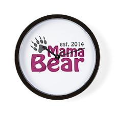Mama Bear New Mom 2014 Wall Clock