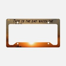 Psalm 118:24 License Plate Holder