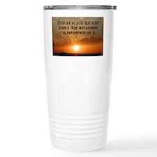 Salmos 118:24 Spanish Travel Mug