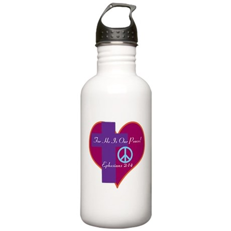 He Is Our Peace Water Bottle