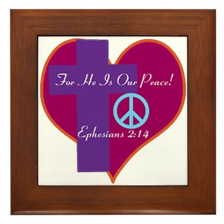 He Is Our Peace Framed Tile