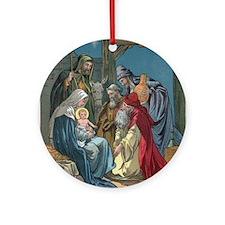 Wise Men Visit Round Ornament