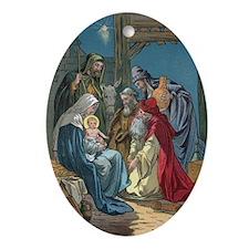 Wise Men Visit Oval Ornament