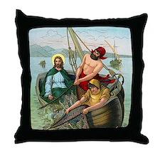 jesusfish1 Throw Pillow