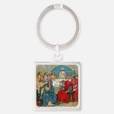 Last Supper Square Keychain