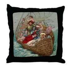 jesusboat1 Throw Pillow