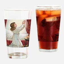 Praying Child Drinking Glass