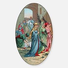 Jesus2Jerusalem1 Sticker (Oval)