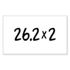 26.2 x 2 Marathon Decal