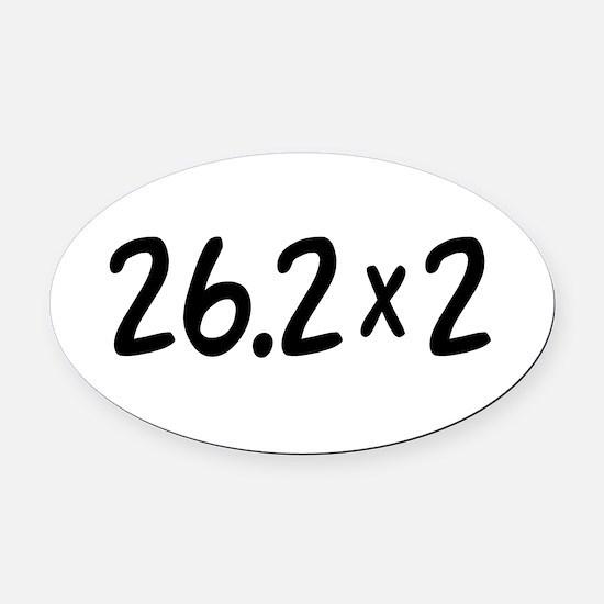 26.2 x 2 Marathon Oval Car Magnet