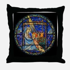 Nativity Window Throw Pillow