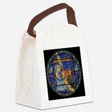 Nativity Window Canvas Lunch Bag