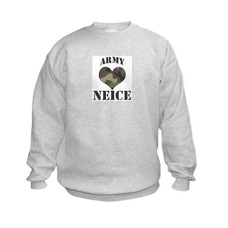 Neice: Camo Heart Kids Sweatshirt