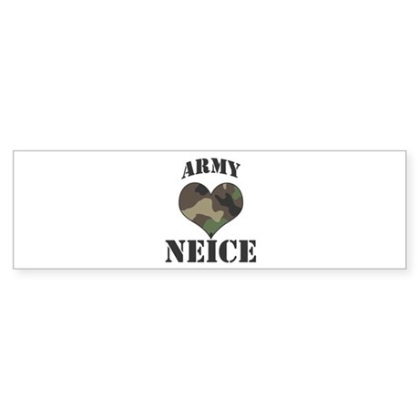 Neice: Camo Heart Bumper Sticker