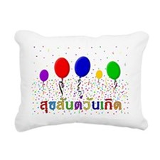 Thai Happy Birthday Rectangular Canvas Pillow
