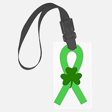 Lime Shamrock Ribbon Luggage Tag