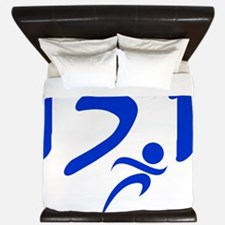 Blue 13.1 half-marathon King Duvet