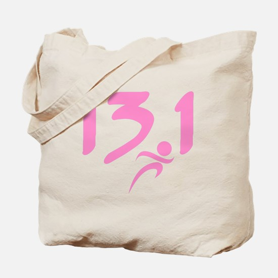 Pink 13.1 half-marathon Tote Bag