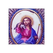 "jesus_lamb2 Square Sticker 3"" x 3"""