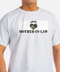 Mother In Law: Camo Heart Ash Grey T-Shirt