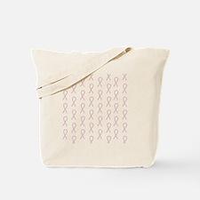 Pink Pawprint Ribbon Tote Bag
