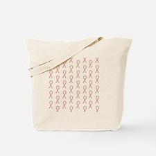 Red Pawprint Ribbon Tote Bag
