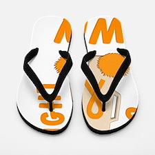 Orange GO FIGHT WIN Flip Flops