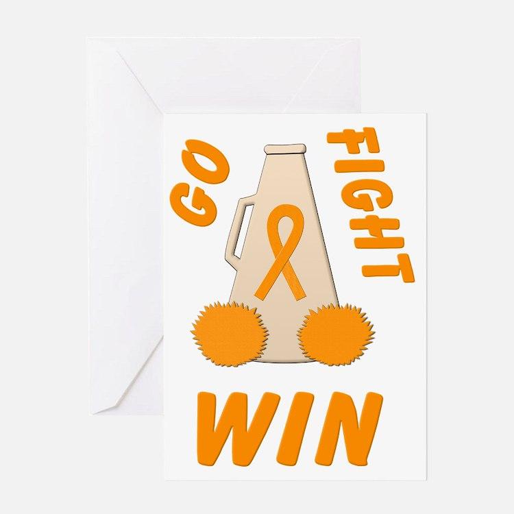 Orange GO FIGHT WIN Greeting Card