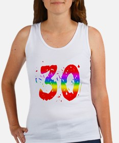 Confetti Rainbow 30 Women's Tank Top