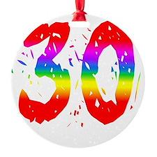 Confetti Rainbow 30 Ornament