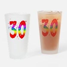 Confetti Rainbow 30 Drinking Glass