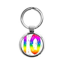 rbwconw10 Round Keychain