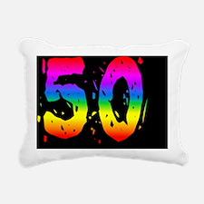 Confetti Rainbow 50 Rectangular Canvas Pillow