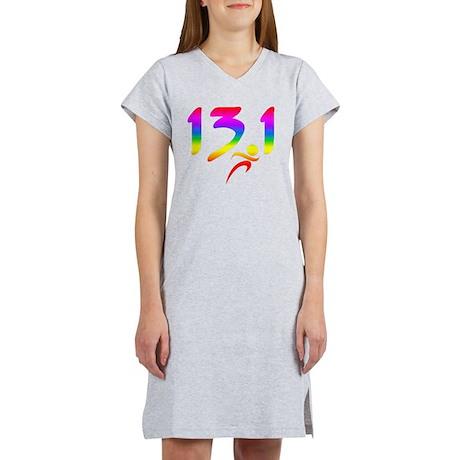 Rainbow 13.1 half-marathon Women's Nightshirt