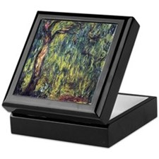 Weeping Willow by Claude Monet Keepsake Box