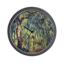 Weeping Willow by Claude Monet Wall Clock