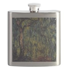 Weeping Willow by Claude Monet Flask