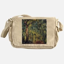 Weeping Willow by Claude Monet Messenger Bag