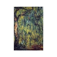 Weeping Willow by Claude Monet Rectangle Magnet