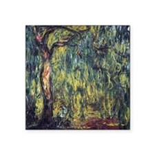 "Weeping Willow by Claude Mo Square Sticker 3"" x 3"""