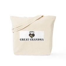 Great Grandma: Camo Heart Tote Bag